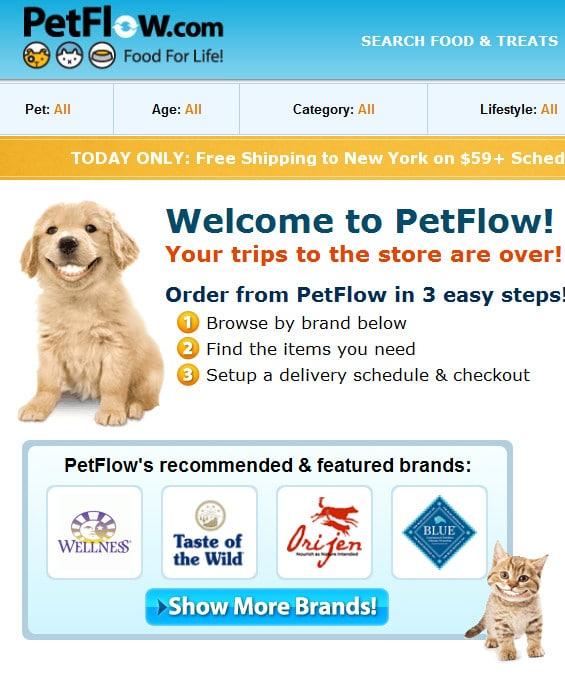 petflow delivers pet food to your door