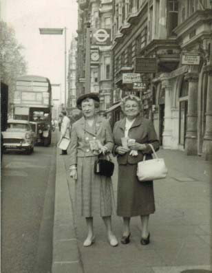 My grandmother is on the right. Her nickname was Lizzie Cowflop.