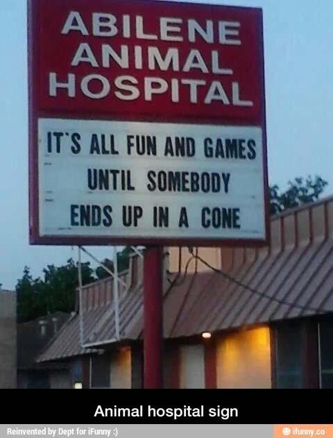Funny Animal Hospital sign