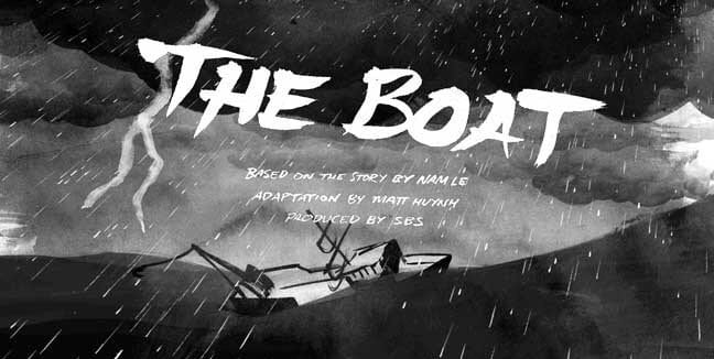 the boat homepage art