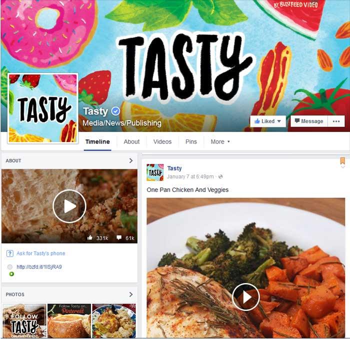 Facebook Tasty