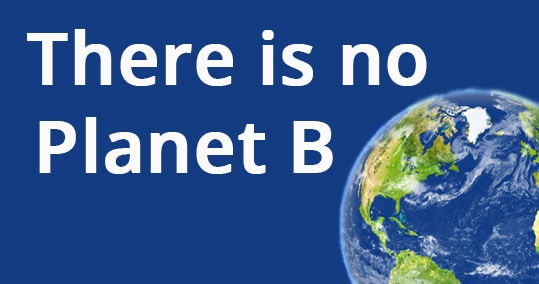 text with planet earth