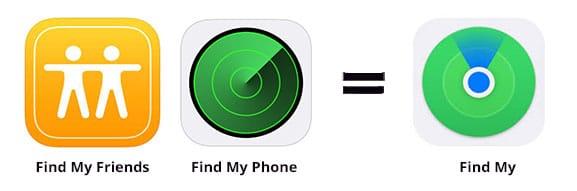 Find MyPhone _ Find My Friends icon update iOS13